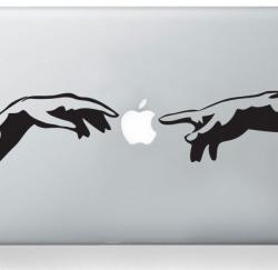 Michelangelo Adam hands mac sticker