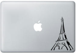 Paris France Eiffel tower mac laptop sticker