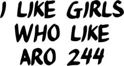 I Like Girls Who Like Aro 244