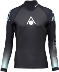 Aqua sphere aquaskin top long sleeve women black/turquoise s