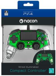 Bigben Interactive PlayStation 4 (PS4) Nacon Wired Compact Controller (Illuminated) (Verde) PS4