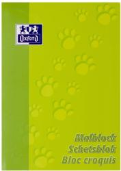 Oxford Blocnotes A4 OXFORD, 100 file - 90g/mp, pentru desenat - velin