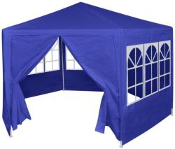 vidaXL 42347 Marquee with 6 Side Walls Blue 2x2 m (42347)